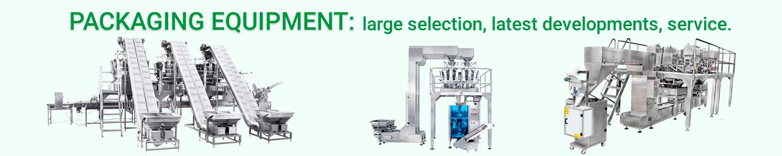 Large selection of packaging equipment